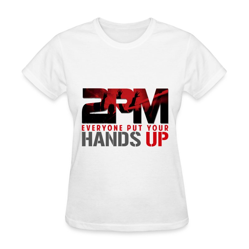 2pm hands up 1 t shirt spreadshirt for Full hand t shirts for womens