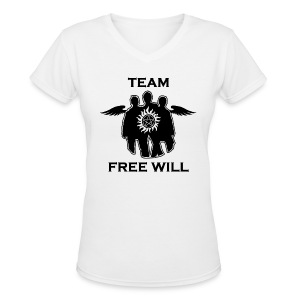 Team Free Will (DESIGN BY MICHELLE) - Women's V-Neck T-Shirt