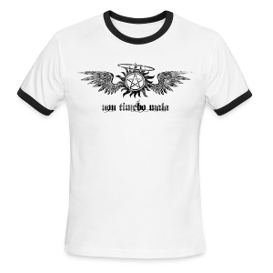 Non Timebo Mala [Distressed] (DESIGN BY MICHELLE) - Men's Ringer T-Shirt