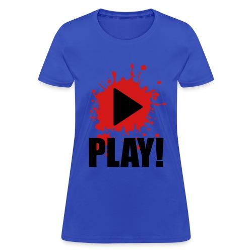 Play Music (Female) - Women's T-Shirt