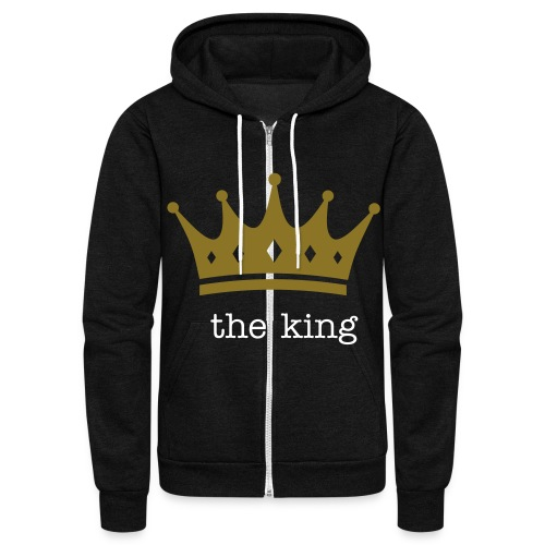 the king - Unisex Fleece Zip Hoodie