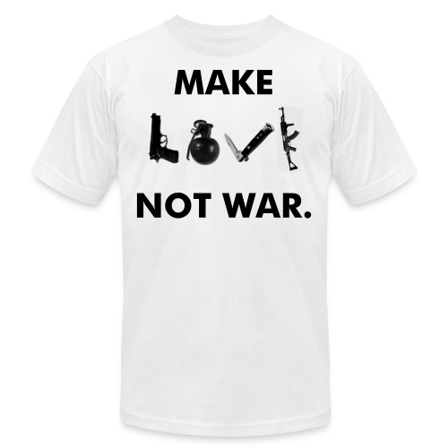 Make LOVE not war. - Men's  Jersey T-Shirt