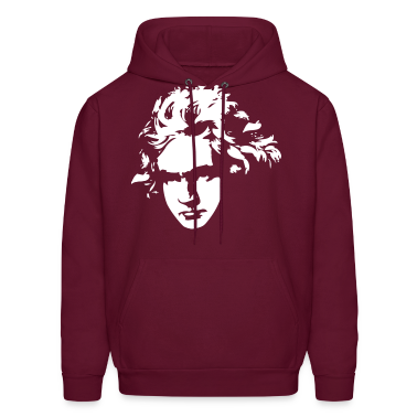Beethoven Silhouette Music Gift Hoodies
