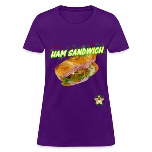 Monkey Pickles Ham Sandwich - Women's T-Shirt