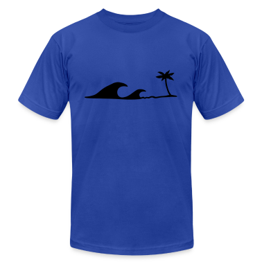 Waves on the Beach, waves on the beach under palm trees  T-Shirts