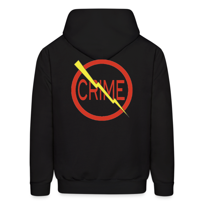"""Donald's 'Don't Do Crime"""" hoodie (Front & Back)"""