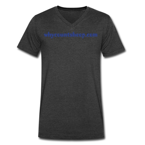 Men's V-Neck whycountsheep.com - Men's V-Neck T-Shirt by Canvas