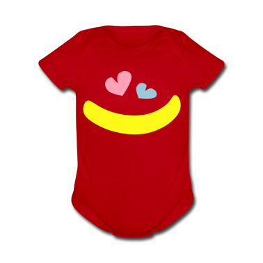 Big smile hearts Baby Short Sleeve One Piece