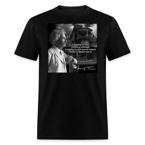 Mark Twain Quote Shirt; Original Design by John Ruff - Men's T-Shirt