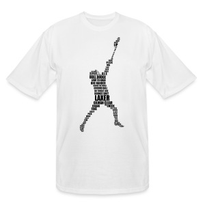 Lacrosse Player Calligram Men's Tall T-Shirt - Men's Tall T-Shirt