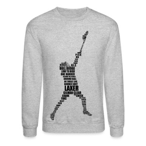 Lacrosse Player Calligram Men's Sweatshirt - Crewneck Sweatshirt