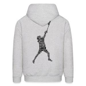Lacrosse Player Calligram Men's Hoodie - Men's Hoodie