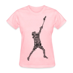 Lacrosse Player Calligram Women's T-Shirt - Women's T-Shirt
