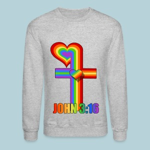 John 3:16/ Rainbow Cross - Crewneck Sweatshirt
