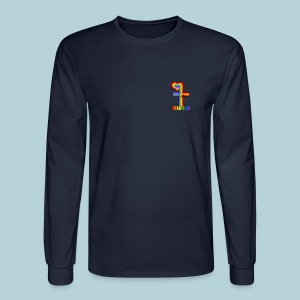 John 3:16/ Rainbow Cross - Men's Long Sleeve T-Shirt