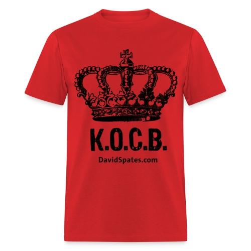 KOCB Crown Men's Black Standard Weight T-Shirt - Men's T-Shirt