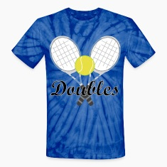 Tennis Doubles Racquet and Ball Sports T-Shirts