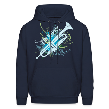 Trumpet Music Grunge Art Hoodies