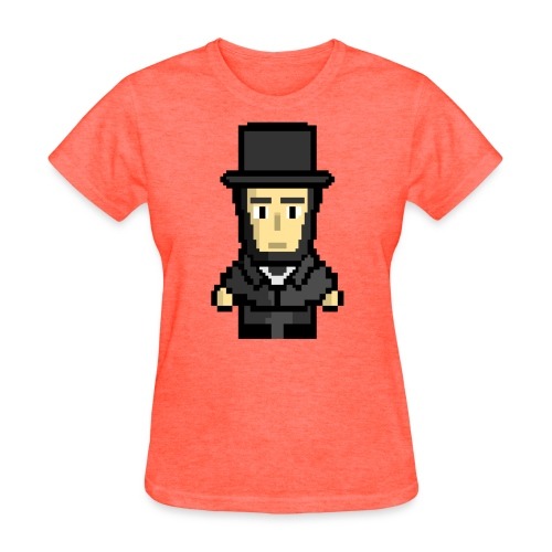 8-Bit Lincoln - Women's T - Women's T-Shirt