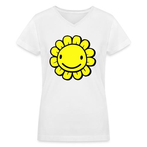 Flower - Women's V-Neck T-Shirt