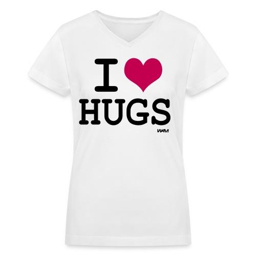 Hugs - Women's V-Neck T-Shirt