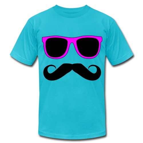Sunglasses with Mustache by Bebe - Men's Fine Jersey T-Shirt