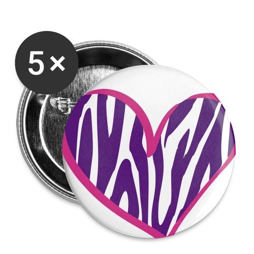 Zebra Heart - Large Buttons