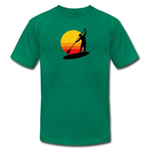 Sunset SUP - Men's Fine Jersey T-Shirt
