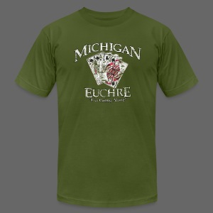 Michigan Euchre - Men's T-Shirt by American Apparel