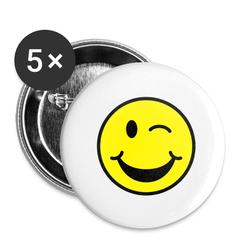 Winking Smiley Face Button - Small Buttons