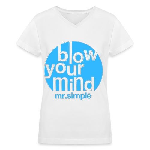 [SJ] Blow Your Mind Mr. Simple - Women's V-Neck T-Shirt