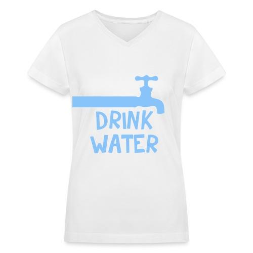 [SHINee] Drink Water - Women's V-Neck T-Shirt