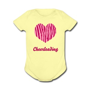 Love Cheerleading- Infant's      - Short Sleeve Baby Bodysuit