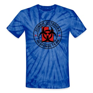 1-UTLogo-TieDie-Full (Black & Red) - Unisex Tie Dye T-Shirt