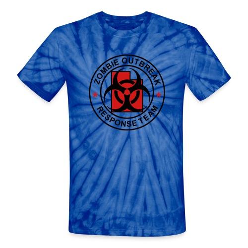 1-UTLogo-TieDie-Full (Black & Red) - Unisex Tie Dye T-Shirt