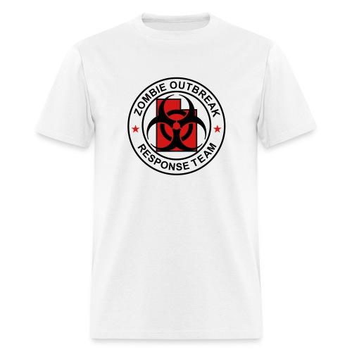 1-UTLogo-MStd-Full (Black & Red) - Men's T-Shirt