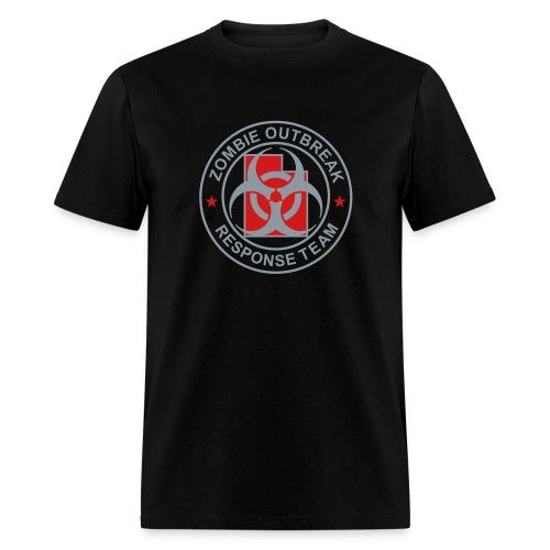 1-UTLogo-MStd-Full (Silver& Red) - Men's T-Shirt