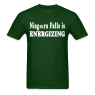 T-Shirts ~ Men's T-Shirt ~ Niagara Falls is Energizing Shirt by New York Old School