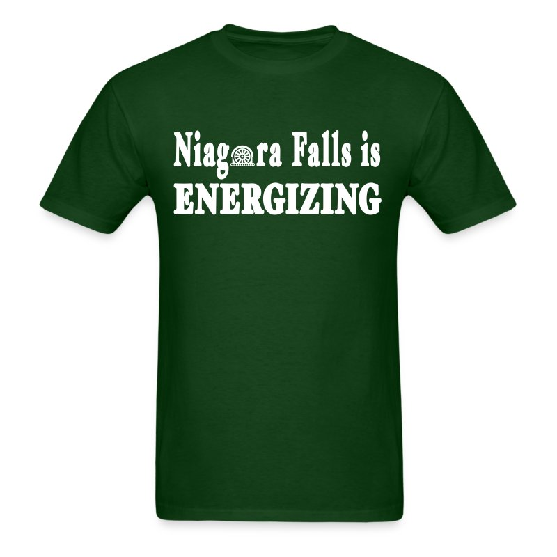Niagara Falls is Energizing Shirt by New York Old School - Men's T-Shirt