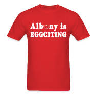 T-Shirts ~ Men's T-Shirt ~ Albany is Eggciting Shirt by New York Old School