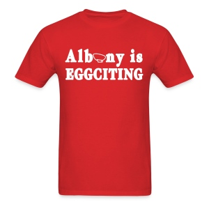 Albany is Eggciting Shirt by New York Old School - Men's T-Shirt