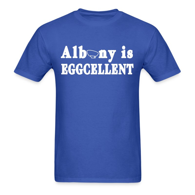 Albany is Eggcellent Shirt by New York Old School - Men's T-Shirt
