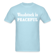 T-Shirts ~ Men's T-Shirt ~ Woodstock is Peaceful Shirt by New York Old School