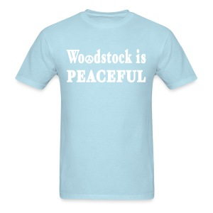 Woodstock is Peaceful Shirt by New York Old School - Men's T-Shirt