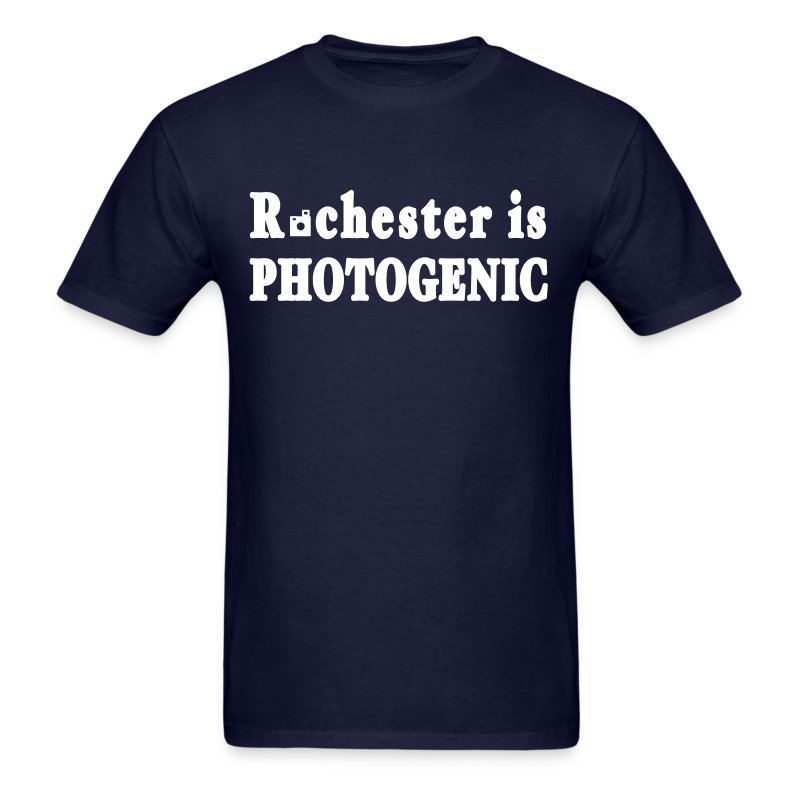 Rochester is Photogenic Shirt by New York Old School - Men's T-Shirt