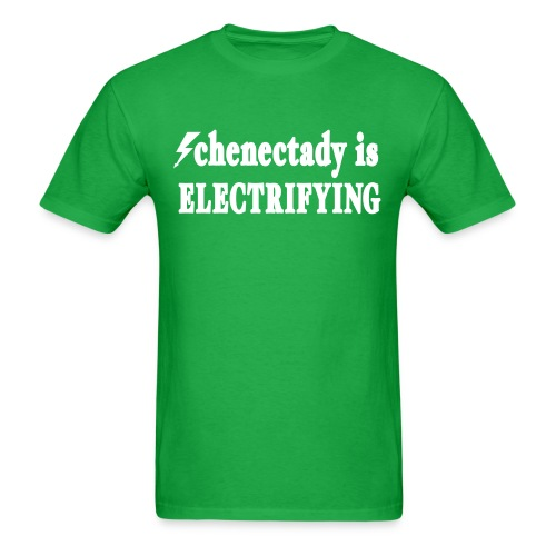 Schenectady is Electrifying Shirt by New York Old School  - Men's T-Shirt