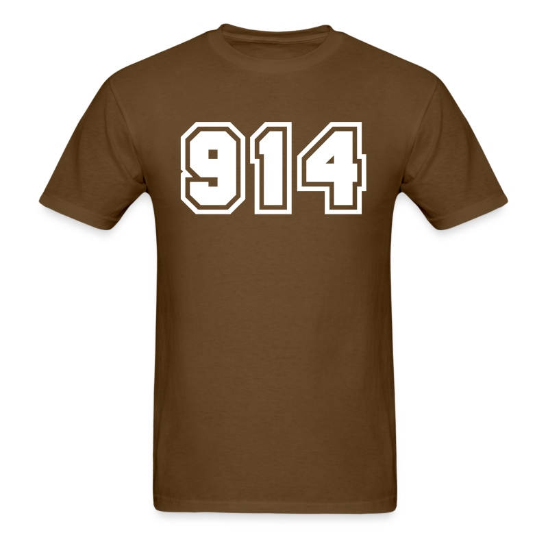 Area Code 914 Shirt by New York Old School  - Men's T-Shirt