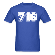 T-Shirts ~ Men's T-Shirt ~ Area Code 716 Shirt by New York Old School