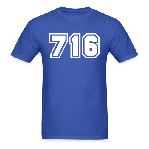 Area Code 716 Shirt by New York Old School  - Men's T-Shirt