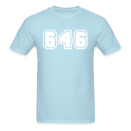 T-Shirts ~ Men's T-Shirt ~ Area Code 646 Shirt by New York Old School